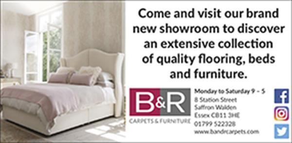Advert for B & R Carpets