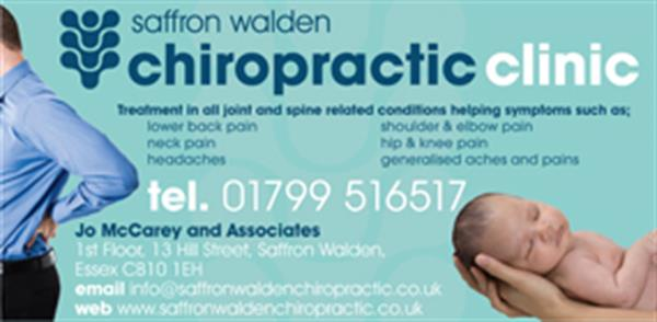 Advert for Chiropractic Clinic (Saffron Walden Chiropractic Clinic)