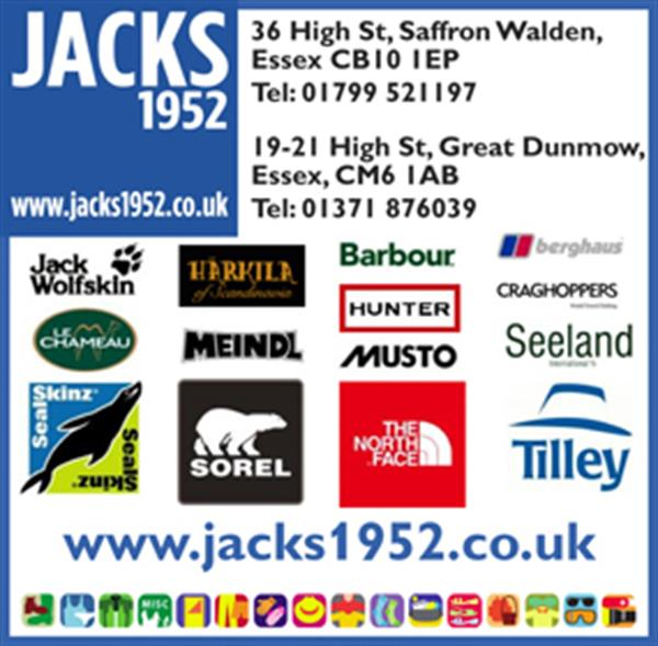 Advert for Jacks Outdoor Wear