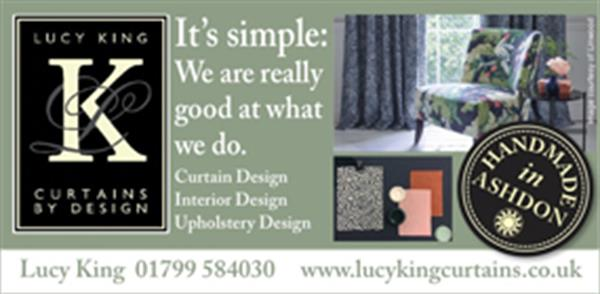 Advert for Lucy King Curtains By Design