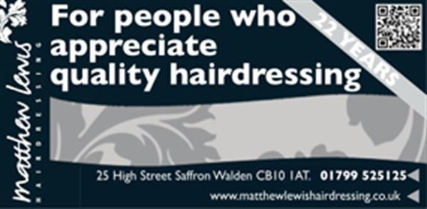 Advert for Matthew Lewis Hairdressing