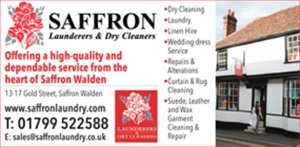 Advert for Saffron Launderers & Dry Cleaners