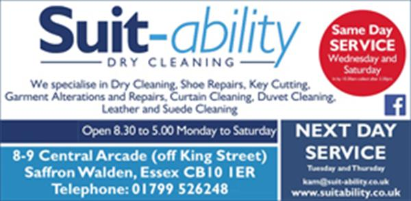 Advert for Suitability Dry Cleaning