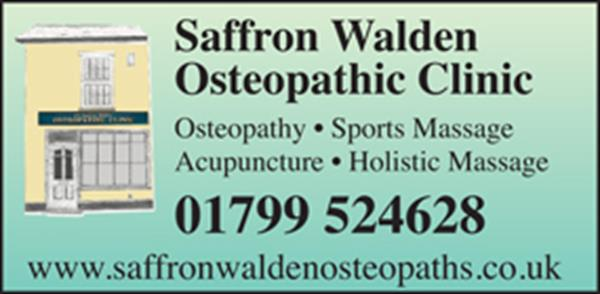 Advert for Osteopathic Clinic. Saffron Walden Osteopathic Clinic